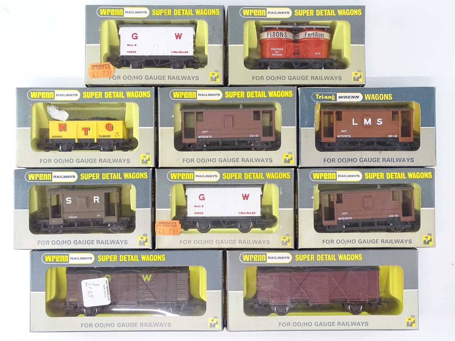 A mixed group of WRENN OO gauge wagons - VG in G boxes (10)