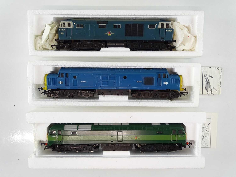 A group of HORNBY OO Gauge diesel locomotives comprising: A Hymek D7034 (repainted); R751 Class 37 - Image 2 of 3
