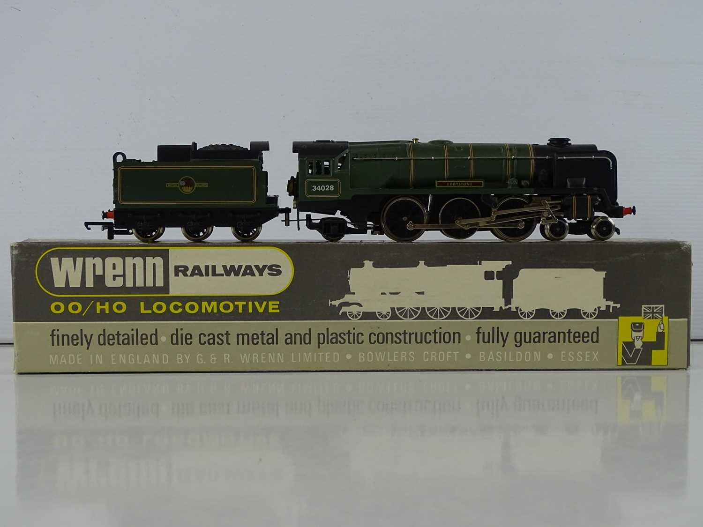 "A WRENN OO Gauge W2239 ""EDDYSTONE"" BR Green 4-6-2 Rebuilt Bulleid Pacific steam locomotive and - Image 2 of 3"