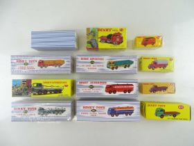 A large quantity of ATLAS DINKY lorries and vans from the British range - VG in G boxes (12)