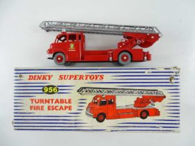 A DINKY 956 Turntable Fire Escape repainted to a good standard in a F box