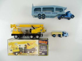A group of boxed and unboxed DINKY lorries to include a 980 Coles Hydra Truck - G/VG in G box