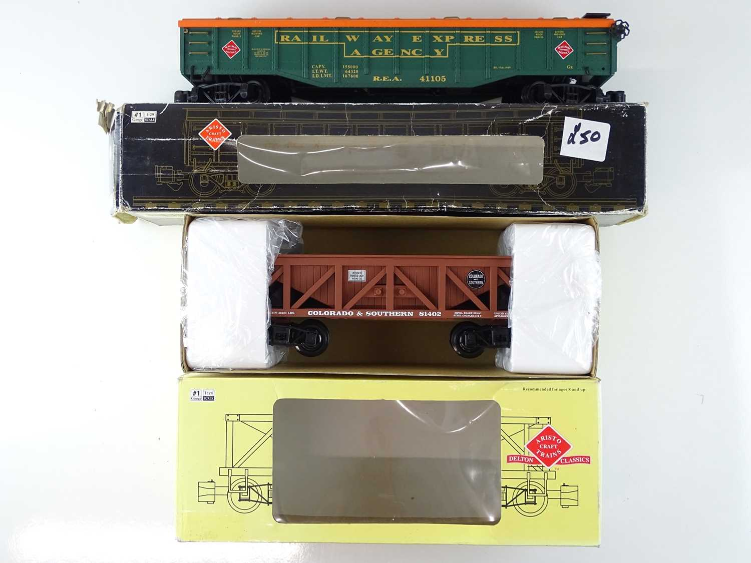 A group of American outline G Scale wagons by USA TRAINS and ARISTOCRAFT - G/VG in P/F boxes (4) - Image 2 of 5