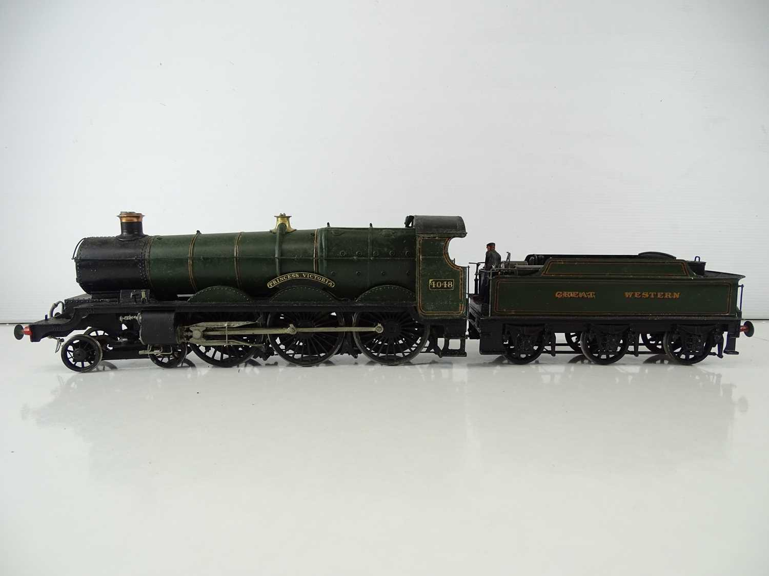 """A kitbuilt O Gauge finescale Star class steam locomotive in GWR green livery """"Princess Victoria"""" - - Image 3 of 7"""