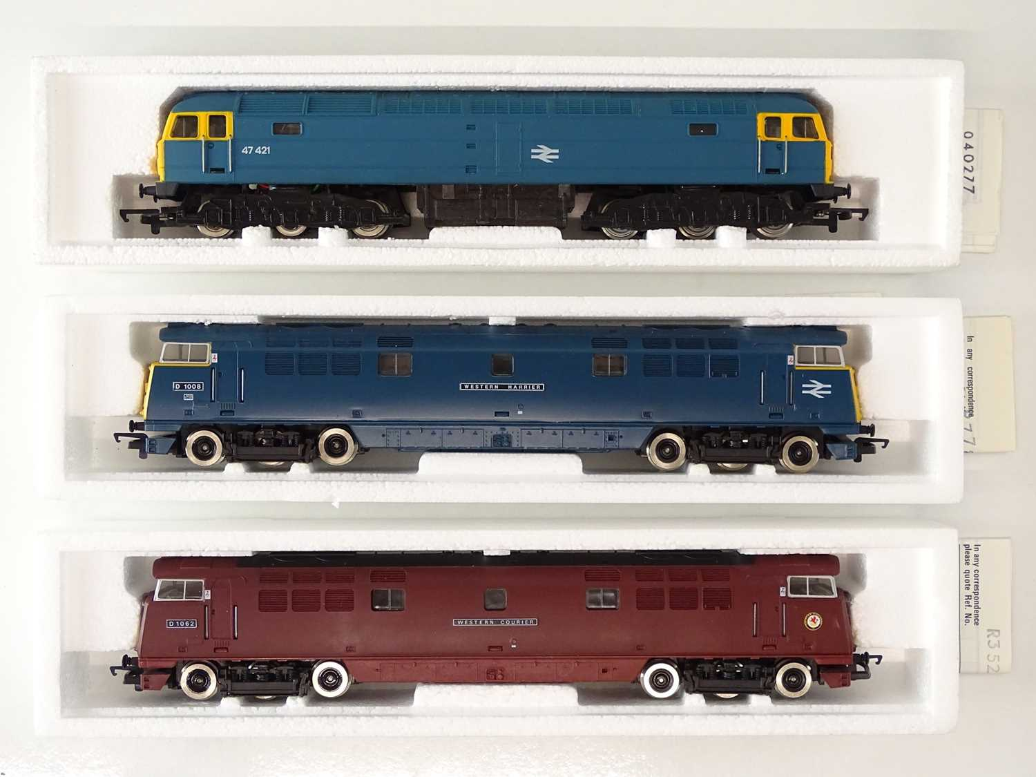 A group of HORNBY OO Gauge diesel locomotives comprising: A Class 47 and two Westerns in BR blue and - Image 2 of 3