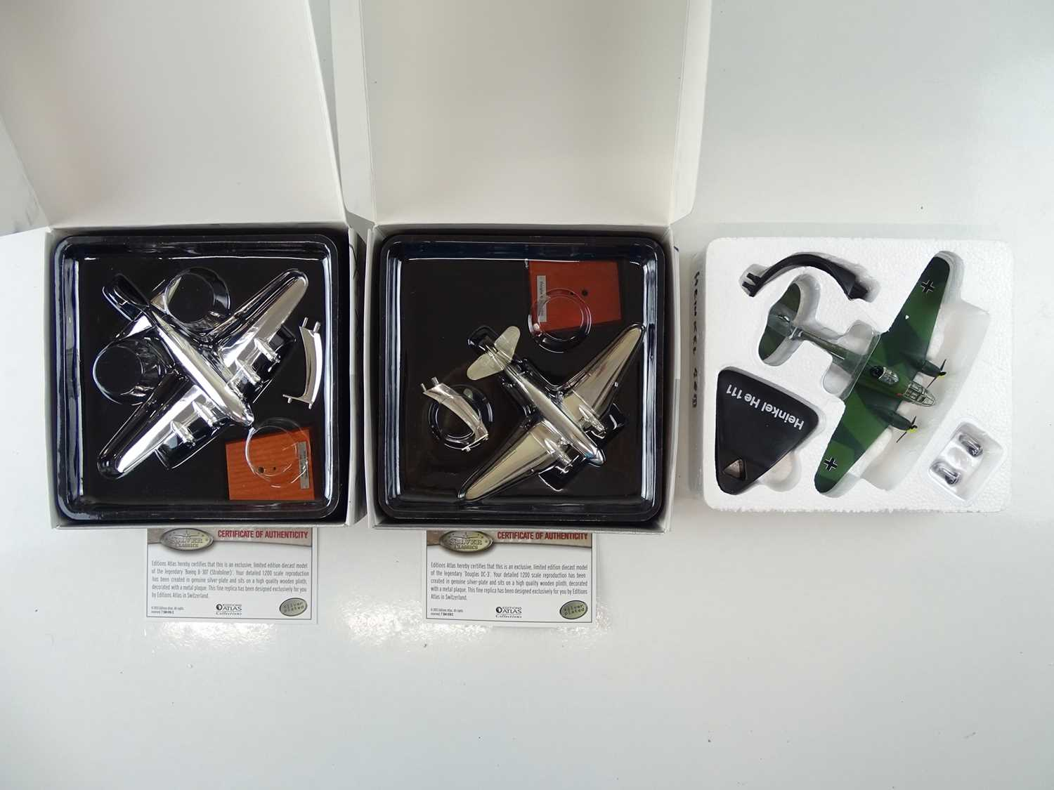 A group of ATLAS editions aircraft including silver plated examples from the Silver Classics range - - Image 8 of 10