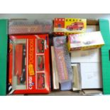 A large tray of modern diecast vans and lorries by CORGI, VANGUARDS etc, all Royal Mail examples -