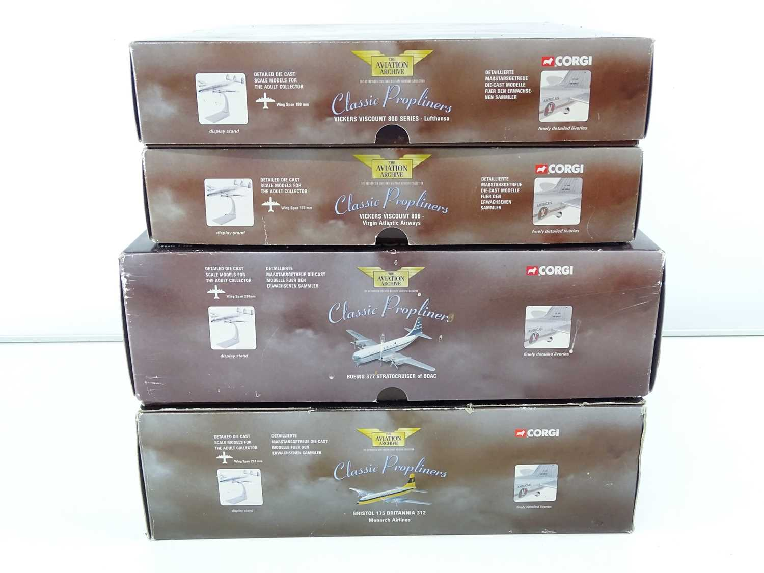 A group of CORGI AVIATION ARCHIVE 1:144 scale Classic Propliners Series Propellor Aircraft - VG in G - Image 10 of 10