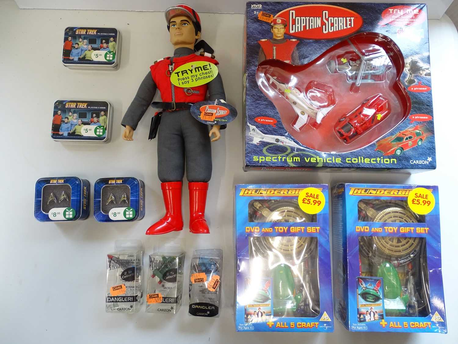 A mixed group of Gerry Anderson & Star Trek toys and ephemera - VG/E (as new) in G boxes where boxed