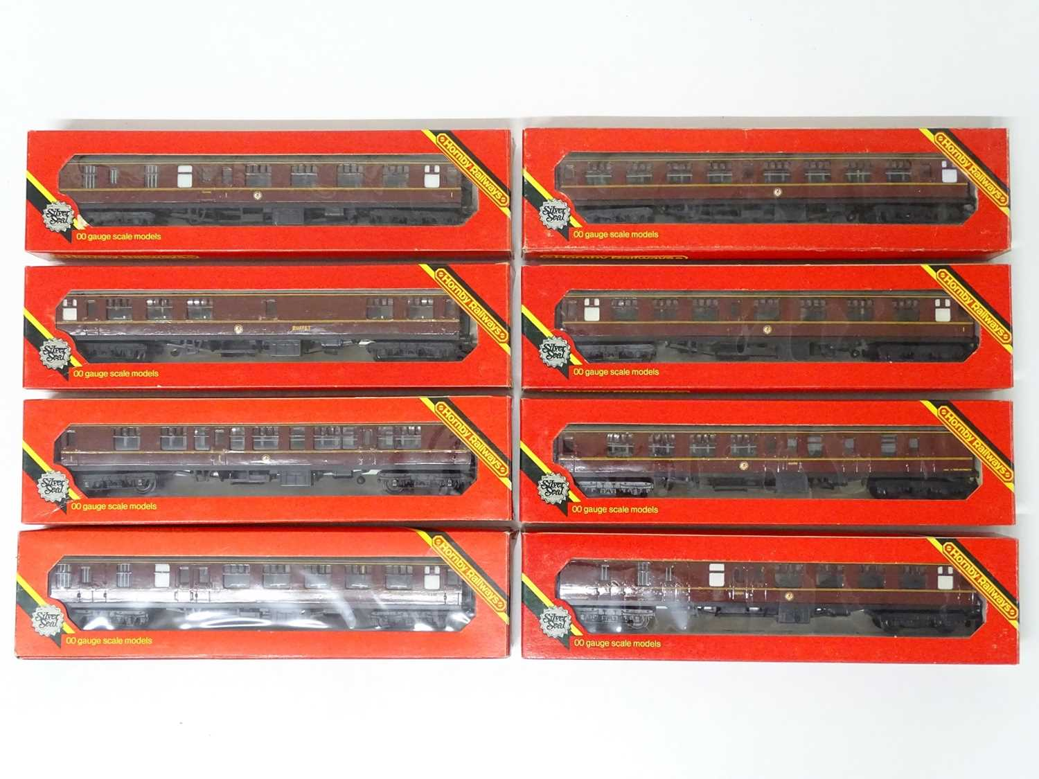 A quantity of HORNBY OO Gauge Mk1 passenger coaches - all repainted in BR maroon - G in G boxes (8)