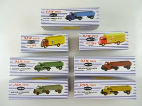 A group of DAN-TOYS reproduction DINKY toys comprising lorries and vans - VG in VG boxes (7)