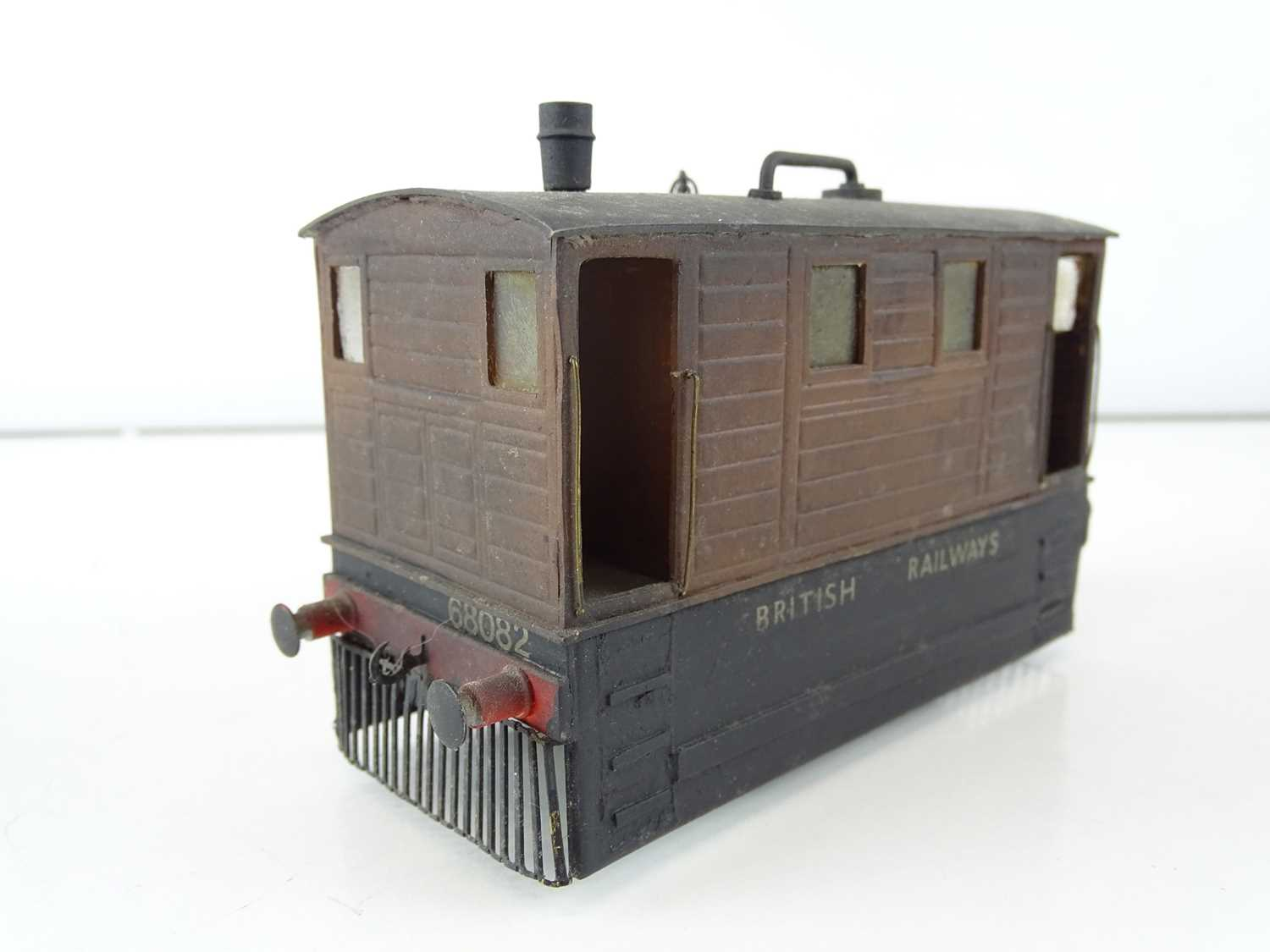 A kit/scratchbuilt O Gauge finescale ex-LNER class J70 Tram loco in weathered BR livery - G/VG