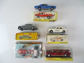 A group of DINKY cars as lotted - F/G in P/F boxes (5)
