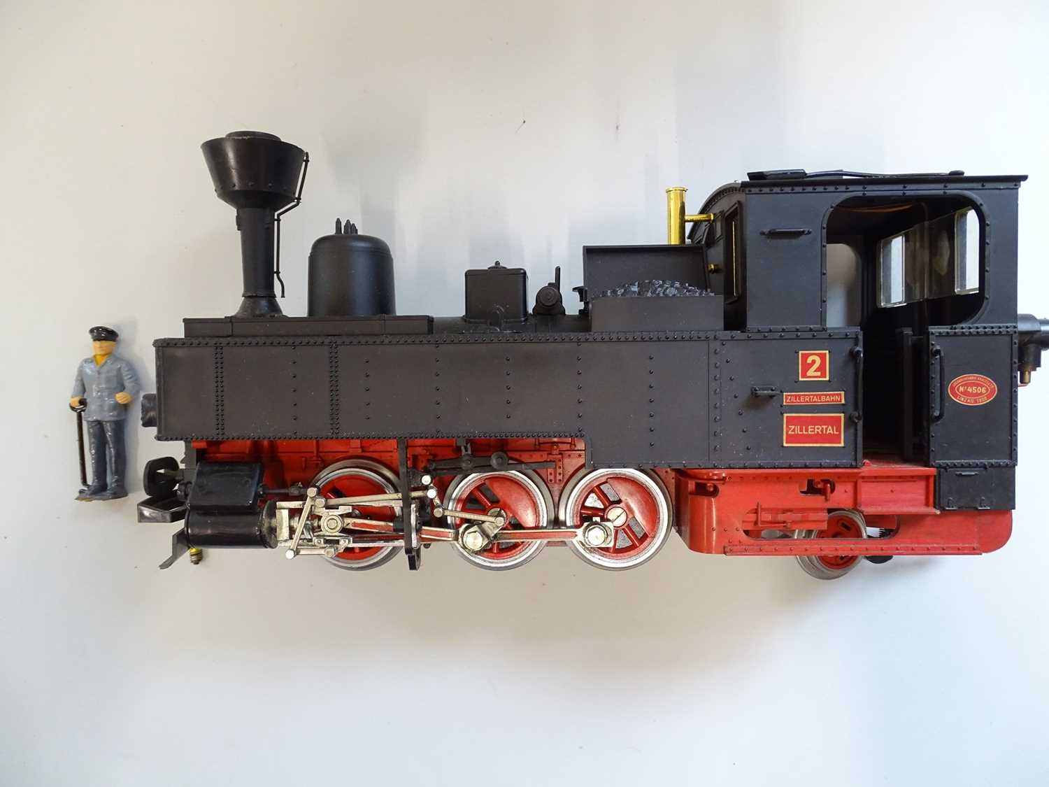 An LGB G Scale 2071D 0-6-2 steam tank locomotive in Zillertalbahn black livery numbered 2 - VG in