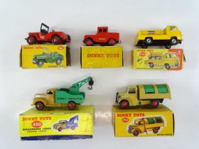 A mixed group of DINKY vans and trucks - G in F boxes (5)