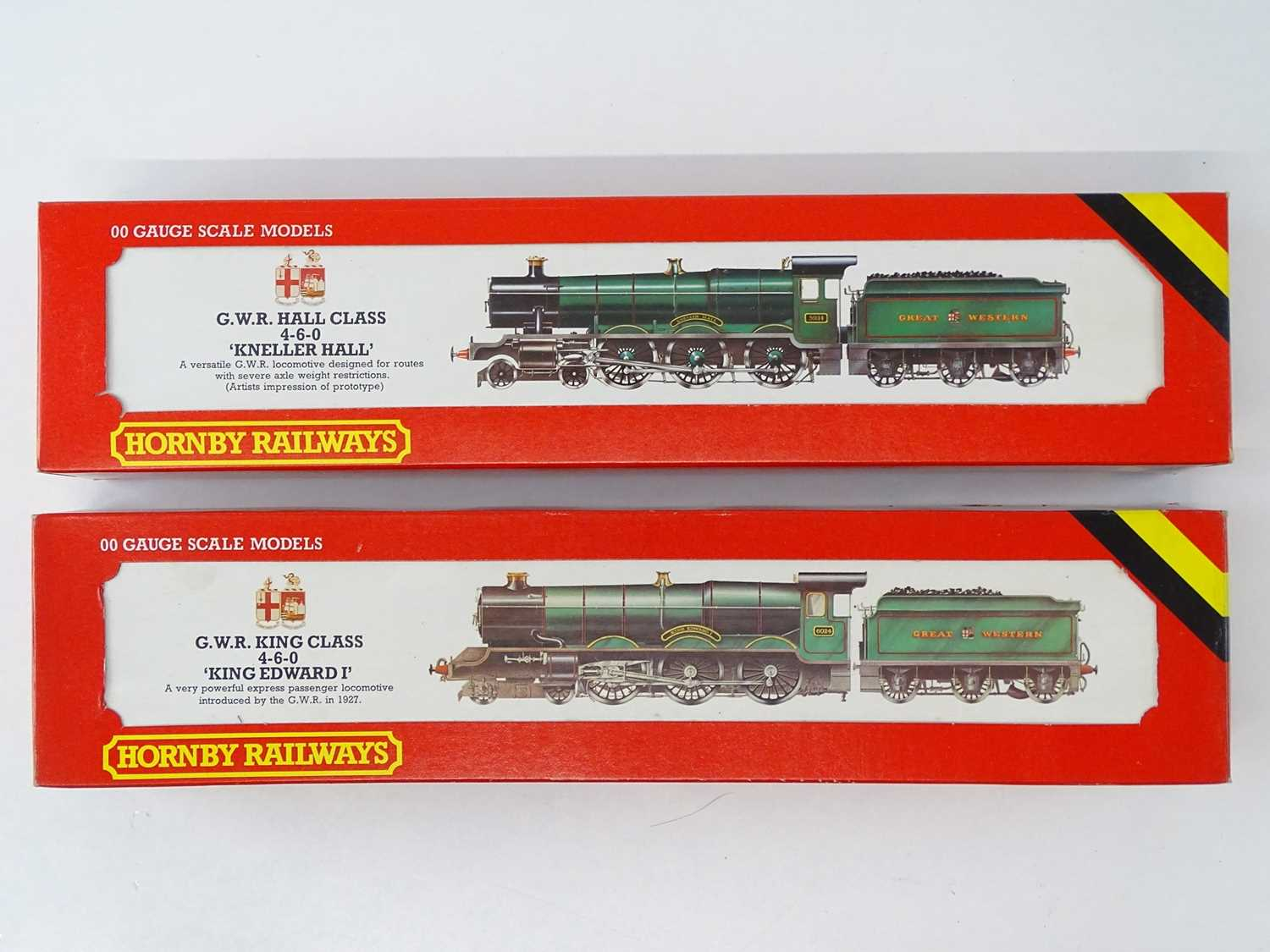A pair of HORNBY OO Gauge steam locomotives comprising 'Kneller Hall' and 'King Edward I' both in
