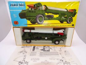 A CORGI Major 1113 Corporal Guided Missile Erector Vehicle - G (missile nose damaged) with