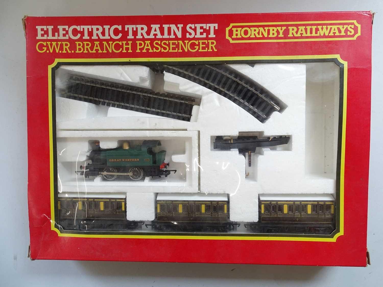 A HORNBY OO Gauge GWR Branch Passenger Train set comprising class 101 steam locomotive, 3x four