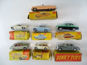 A group of DINKY cars as lotted - F/G in P/F boxes (7)