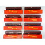 A quantity of TRI-ANG OO Gauge Mk1 passenger coaches in BR maroon livery - all in repro boxes - G in