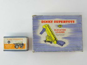 A pair of DINKY Toys to include a 562 Dumper Truck and a 964 Elevator Loader - F/G in F/G boxes (2)