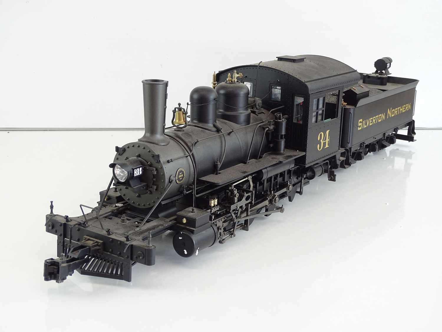 A SPECTRUM American outline G scale narrow gauge 1:20.3 81297 2-8-0 Consolidation steam locomotive - Image 2 of 5