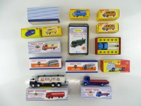 A group of ATLAS DINKY lorries and vans from the British range including a Code 3 example - VG in
