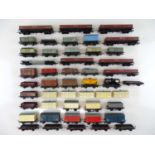 A large group of OO Gauge unboxed wagons by HORNBY DUBLO, WRENN etc - G (unboxed) (42)