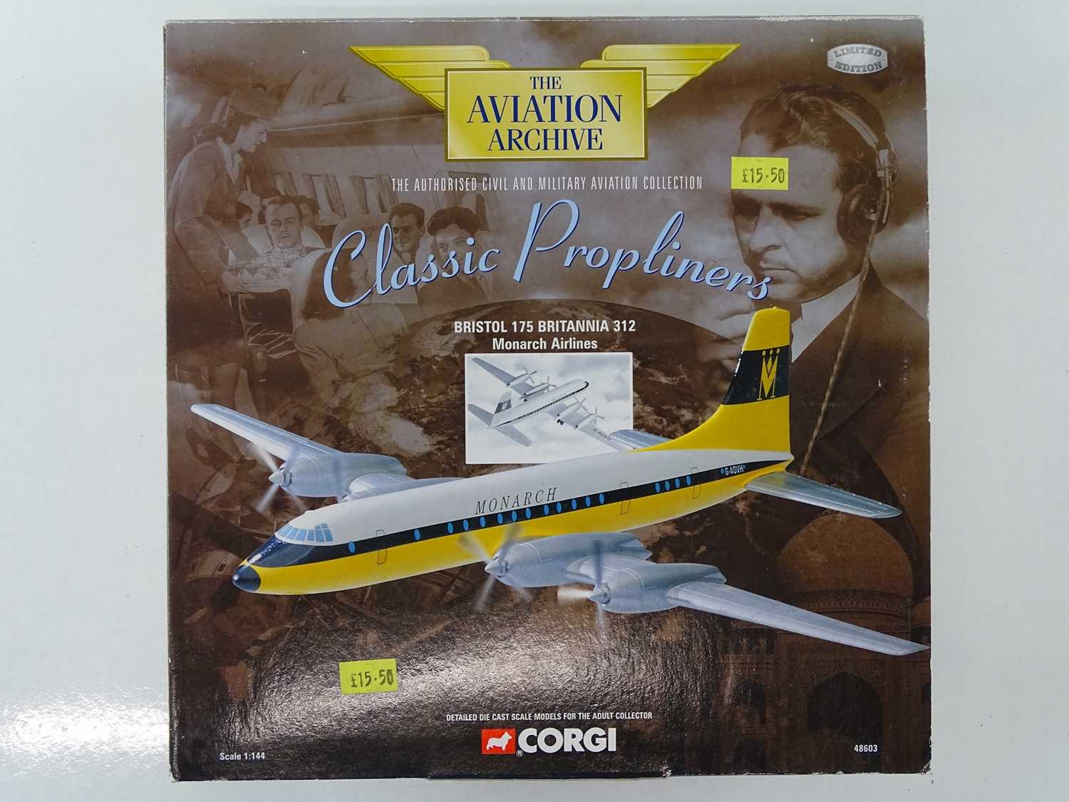 A group of CORGI AVIATION ARCHIVE 1:144 scale Classic Propliners Series Propellor Aircraft - VG in G - Image 2 of 10