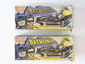 A pair of CORGI 267 Batmobiles - both original issue as follows: 1) F/G some playwear with F/G inner