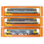 A group of HORNBY OO Gauge Class 47 diesel locomotives in various liveries - G/VG in F/G boxes (3)