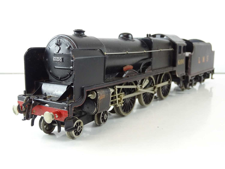 A BASSETT-LOWKE 3-rail O gauge 5611/0 Royal Scot steam locomotive in LMS black livery - G in F/G