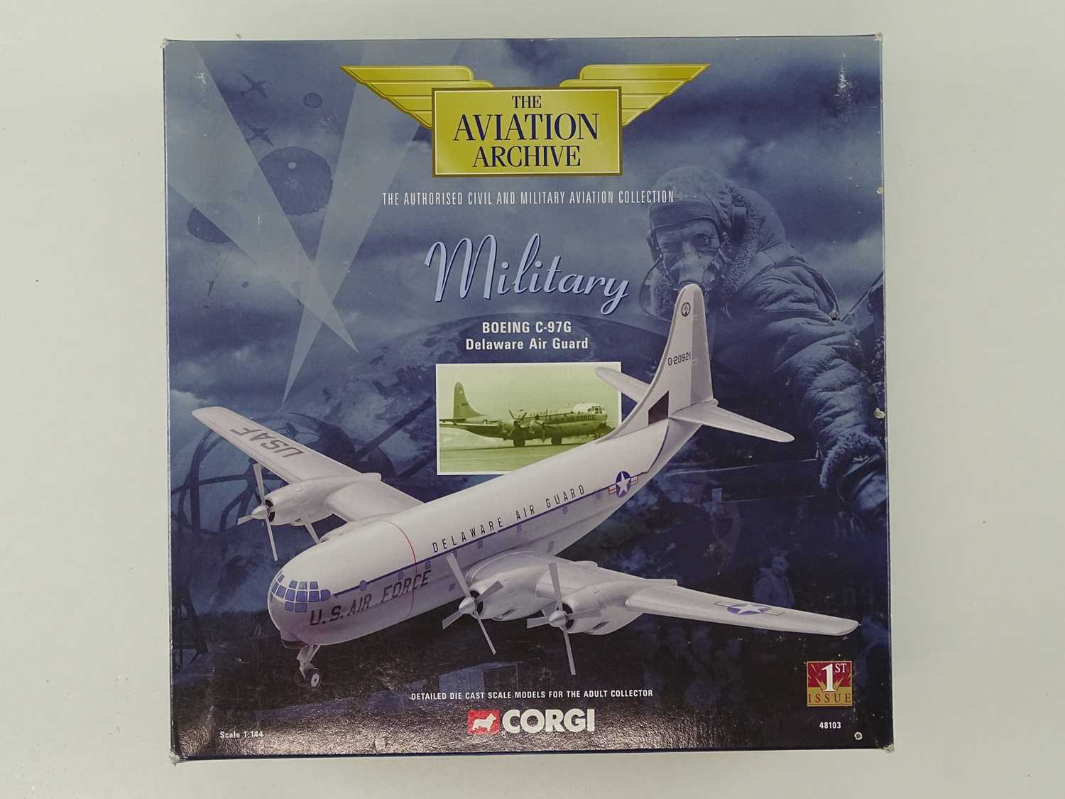 A group of CORGI AVIATION ARCHIVE 1:144 scale Military and Berlin Airlift Series propellor - Image 6 of 8