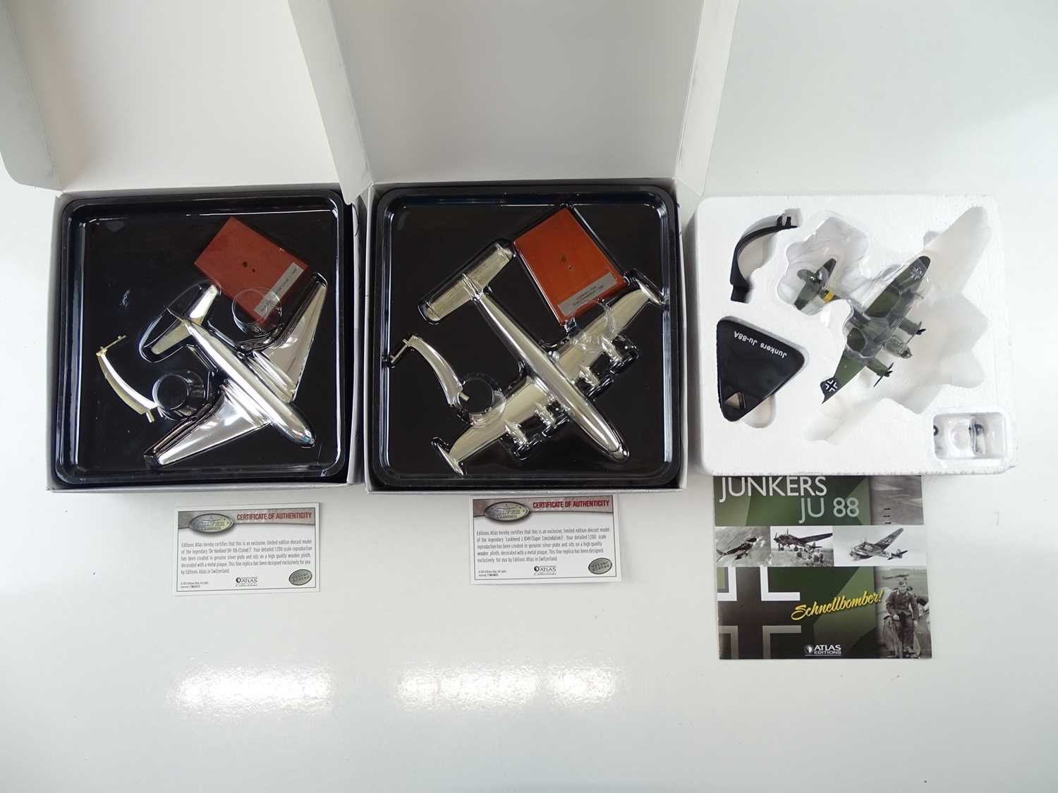 A group of ATLAS editions aircraft including silver plated examples from the Silver Classics range - - Image 2 of 10