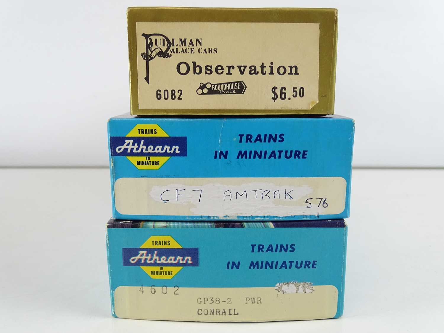 A group of American Outline HO Gauge diesel locos by ATHEARN in Conrail and Amtrak liveries - G in G - Image 2 of 2