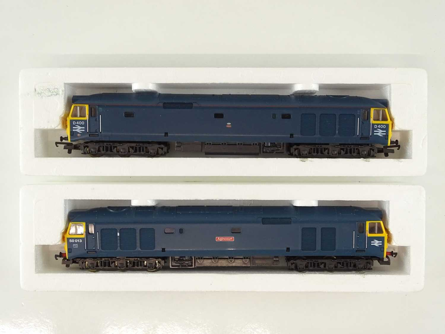 A pair of LIMA OO Gauge Class 50 diesel locomotives in BR blue livery - G/VG in G boxes (2) - Image 2 of 3