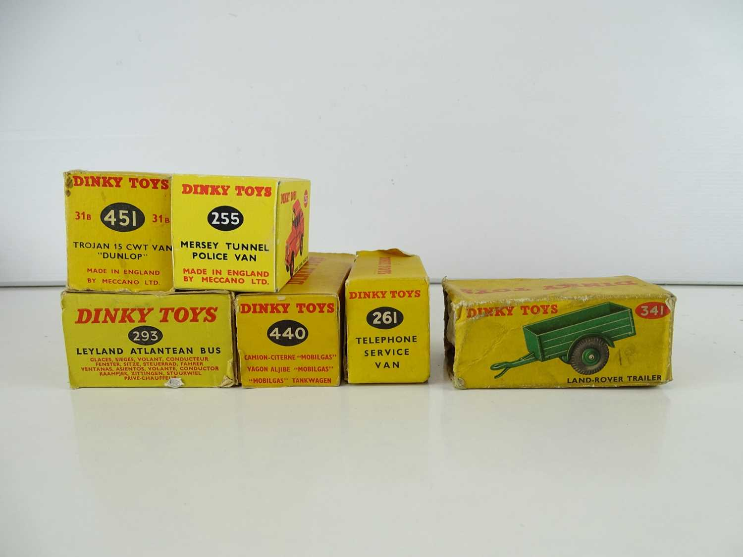 A group of DINKY Toys vans together with a bus - F/G in P/G boxes (one box repro) (6) - Image 3 of 3