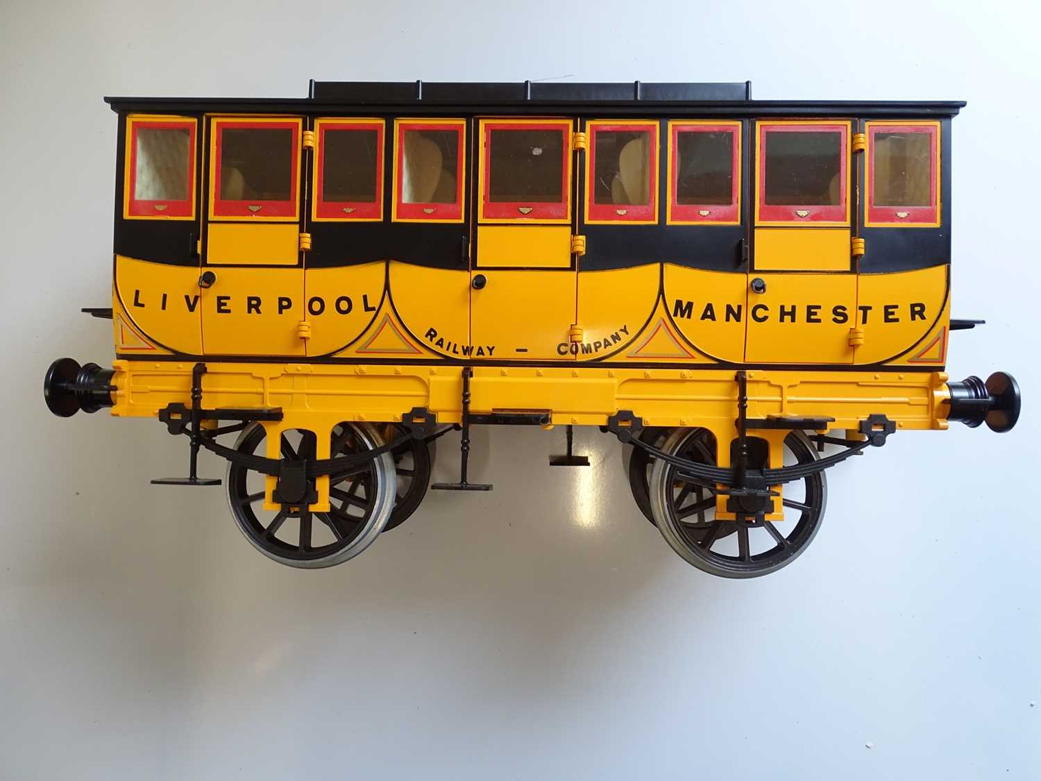 A Hornby 3.5 inch scale G104 coach as issued for the live steam Rocket - un-named with complete - Image 3 of 3