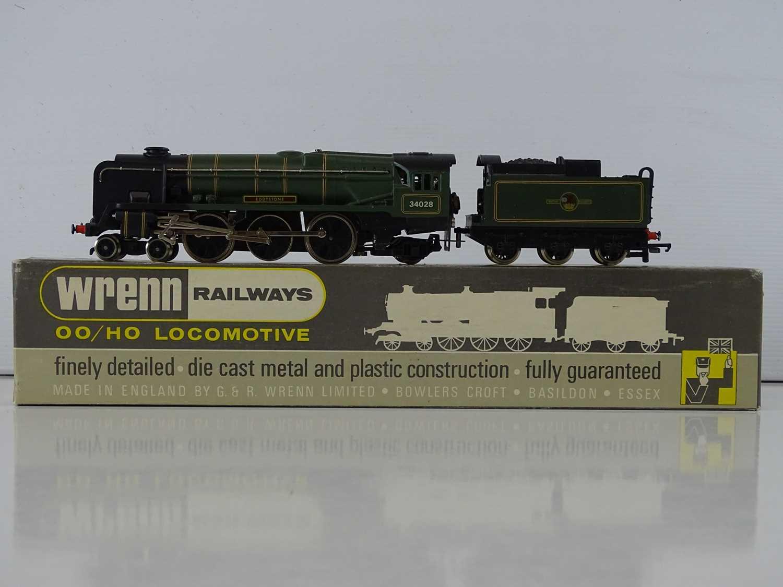 "A WRENN OO Gauge W2239 ""EDDYSTONE"" BR Green 4-6-2 Rebuilt Bulleid Pacific steam locomotive and"
