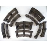 A large quantity of HORNBY SERIES O Gauge 3-rail track all curves - some double track sections and