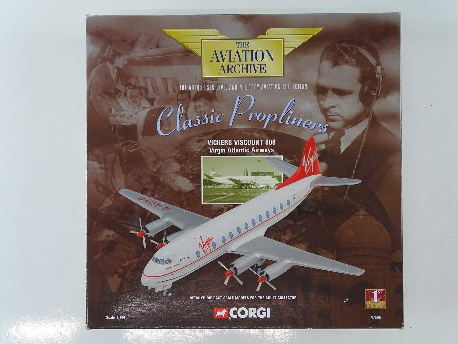 A group of CORGI AVIATION ARCHIVE 1:144 scale Classic Propliners Series Propellor Aircraft - VG in G - Image 6 of 10