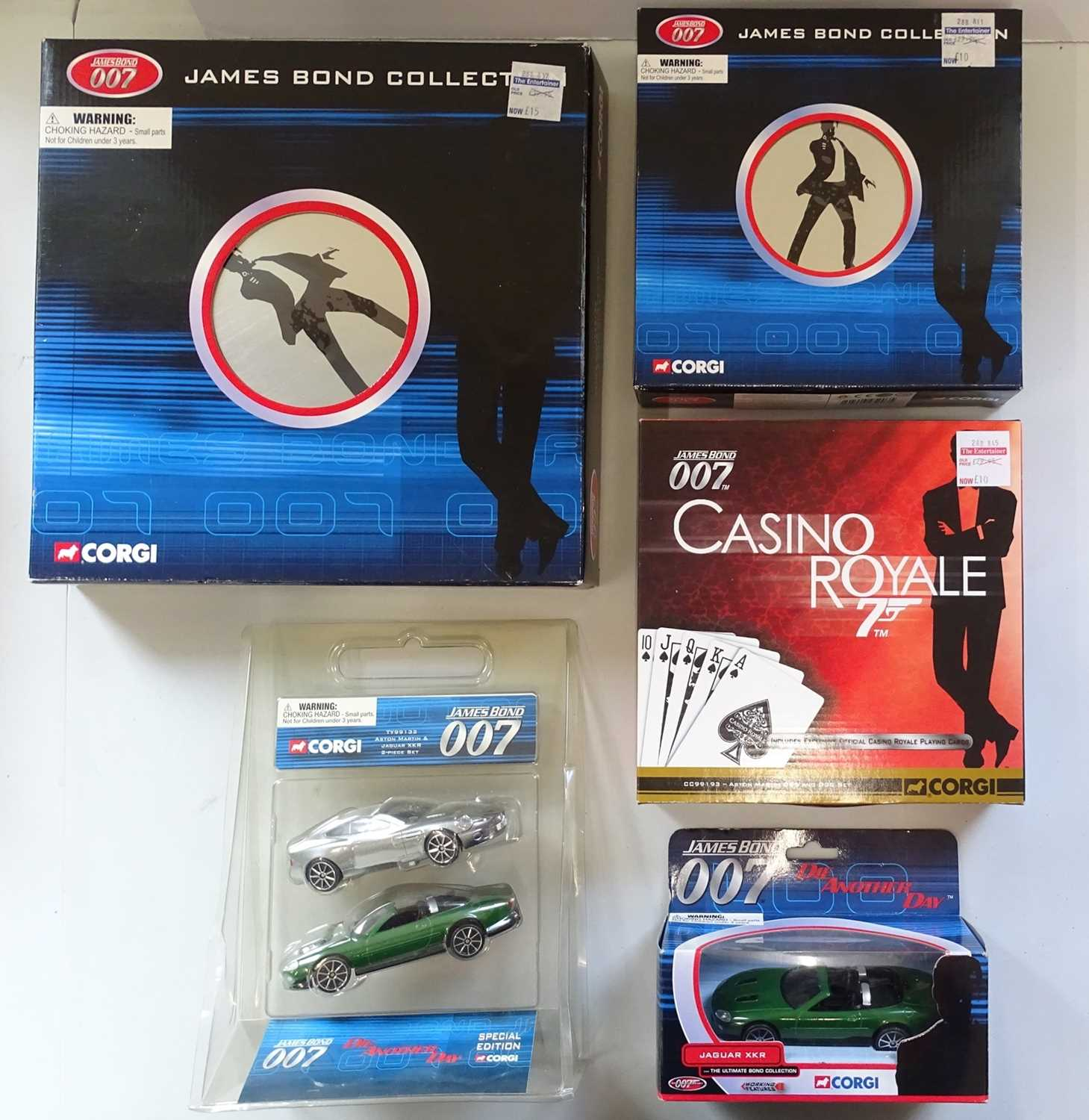 A group of CORGI James Bond Collection diecast cars and gift sets, all as new - VG/E in VG boxes (