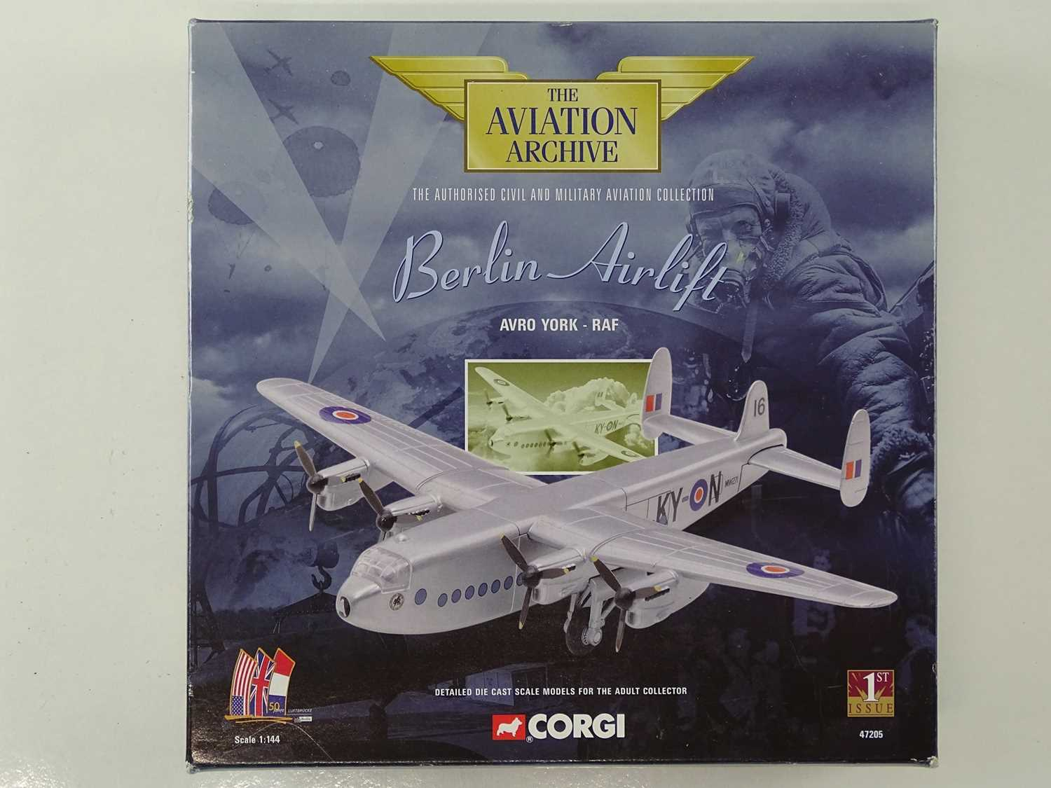 A group of CORGI AVIATION ARCHIVE 1:144 scale Military and Berlin Airlift Series propellor - Image 4 of 8