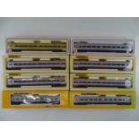 A group of HO Gauge BACHMANN American Outline Metroliner electric multiple units - all in Amtrak