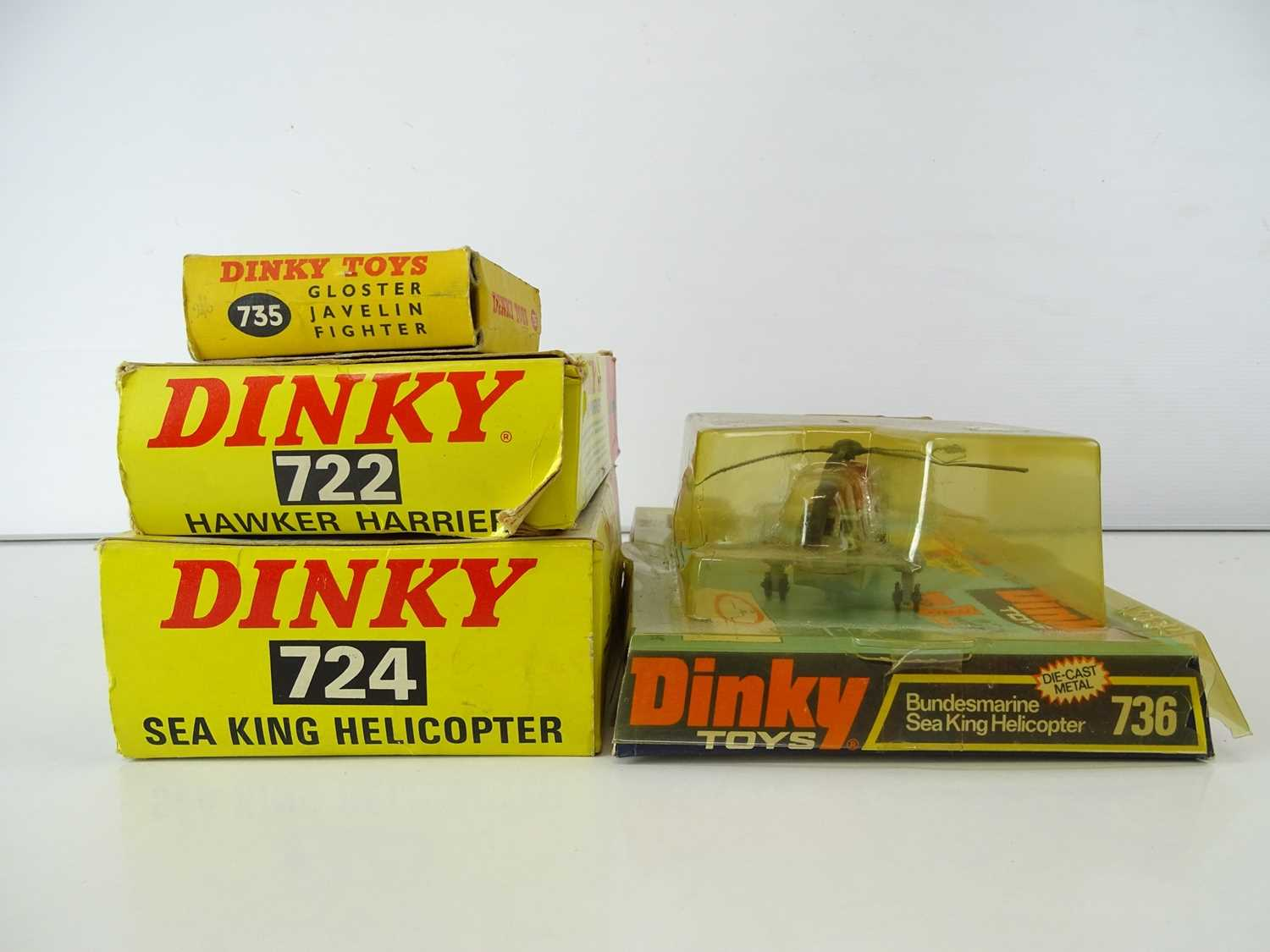 A group of DINKY Military Aircraft comprising: 724 and 736 Sea King Helicopters together with 722 - Image 3 of 3
