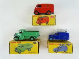 A group of three DINKY vans comprising 260, 411 and 492 - G in F/G boxes (3)