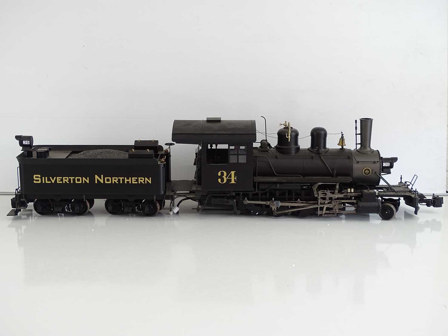 A SPECTRUM American outline G scale narrow gauge 1:20.3 81297 2-8-0 Consolidation steam locomotive - Image 3 of 5
