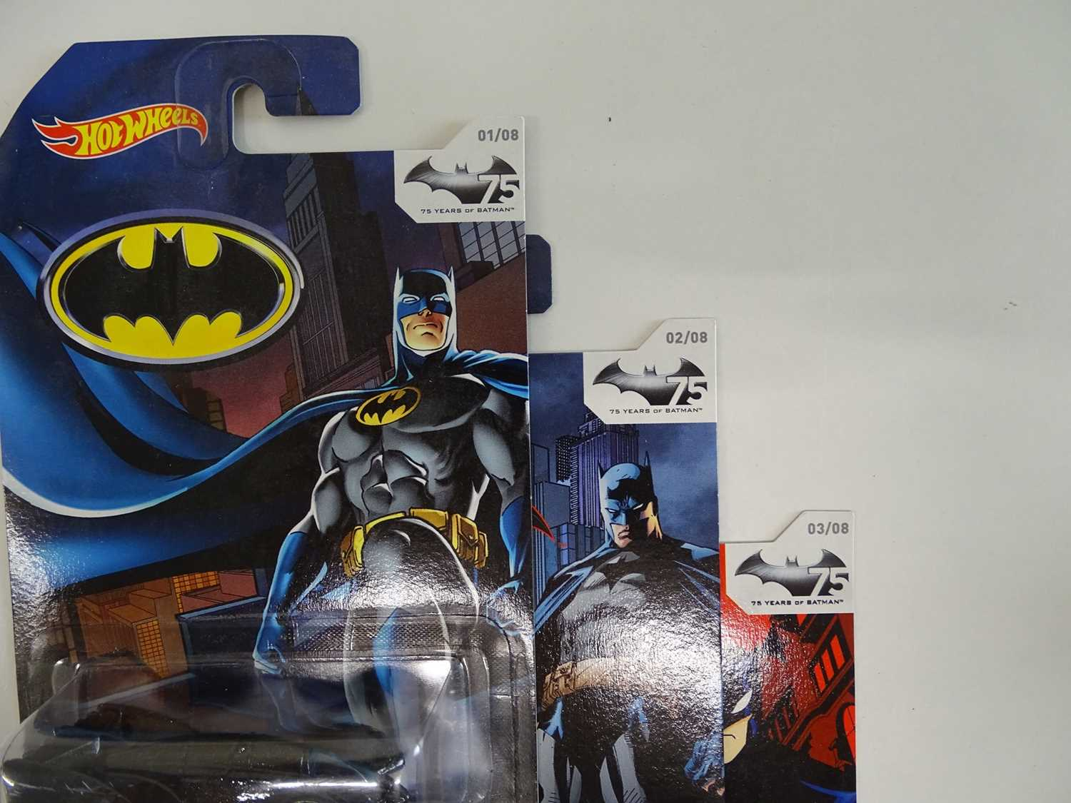 BATMAN LOT (9 in Lot) - Selection of various Batmobiles (8) from Hot Wheels all presented sealed - Image 5 of 7