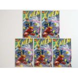 X-MEN #1 - (5 in Lot) - (1991 - MARVEL) - Wraparound, fold out cover featuring all the X-men plus