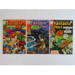 FANTASTIC FOUR #89, 90, 98 - (3 in Lot) - (1969/70 - MARVEL - US Price & UK Price Variant) -